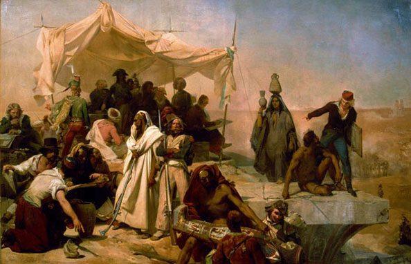 Léon Cogniet: Egipčanska ekspedicija pod poveljem Bonaparta