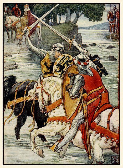Beaumains zmaga v bitki ob plitvini.
