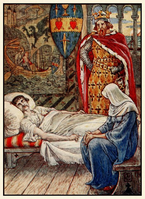 Čarovnica svetuje, kako zdraviti rane sira Tristrana.