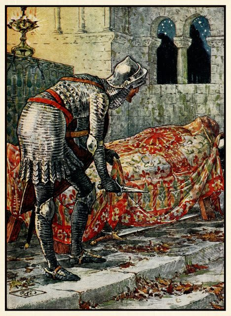 Sir Lancelot v kapeli Perilous.