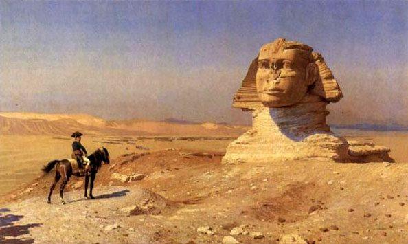 Jean-Léon Gérôme: Bonaparte pred sfingo