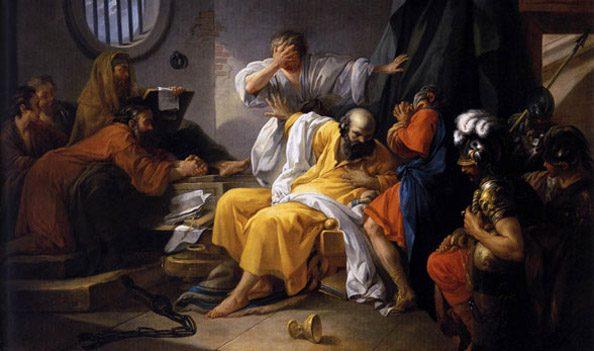 Sokratova smrt (Jacques-Philip-Joseph de Saint-Quentin)