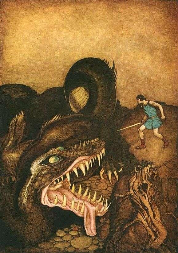 Boj junaka z ljubljanskim zmajem