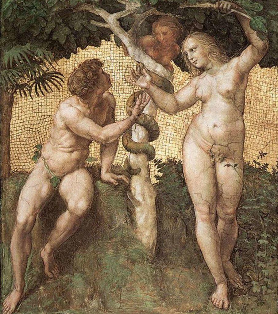 Drevo spoznanja, Adam in Eva