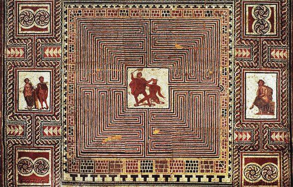 Mozaik na tleh rimske vile, Salzburg, Avstrija