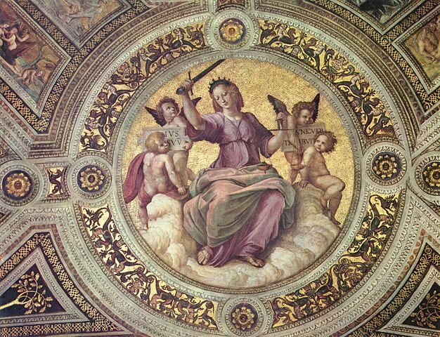 Umetnost-Raffaello-kardinalne-vrline-pravicnost